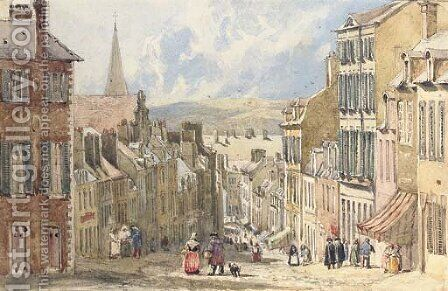 At Boulogne, France by David Cox - Reproduction Oil Painting