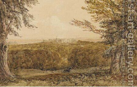 Windsor Castle from the Great Park by David Cox - Reproduction Oil Painting
