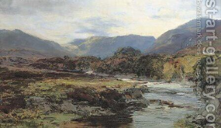 The North Esk, Inverness-shire by David Farquharson - Reproduction Oil Painting