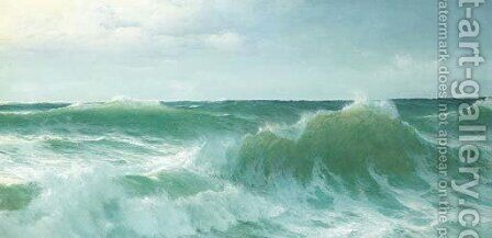 A breaking wave 2 by David James - Reproduction Oil Painting