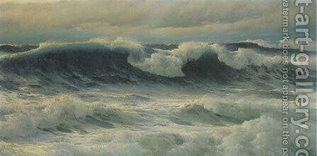 Atlantic Rollers 2 by David James - Reproduction Oil Painting