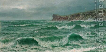 Breaking Waves 3 by David James - Reproduction Oil Painting