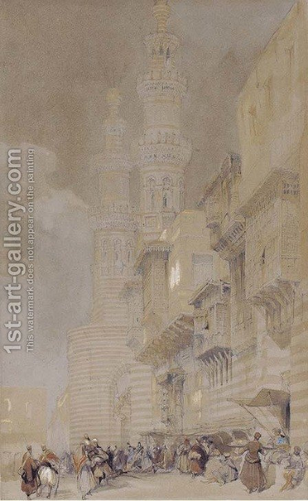 A street in Cairo, Egypt by David Roberts - Reproduction Oil Painting