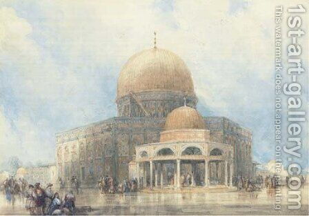 The Dome of the Rock, Jerusalem by David Roberts - Reproduction Oil Painting