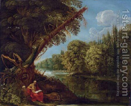 Saint Jerome in the Wilderness by David The Elder Teniers - Reproduction Oil Painting