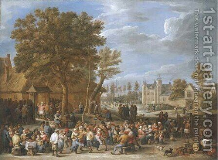 A village kermesse by David III Teniers - Reproduction Oil Painting