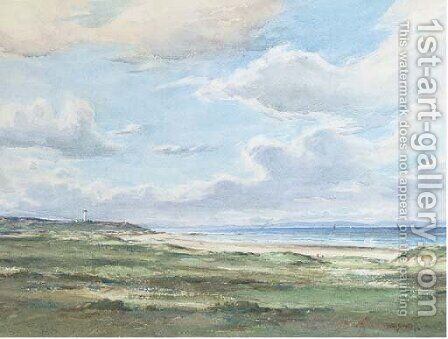 Lossiemouth on the Moray Firth, Scotland by David West - Reproduction Oil Painting
