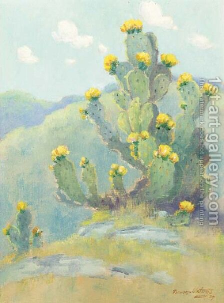 Cactus study by Dawson Dawson-Watson - Reproduction Oil Painting
