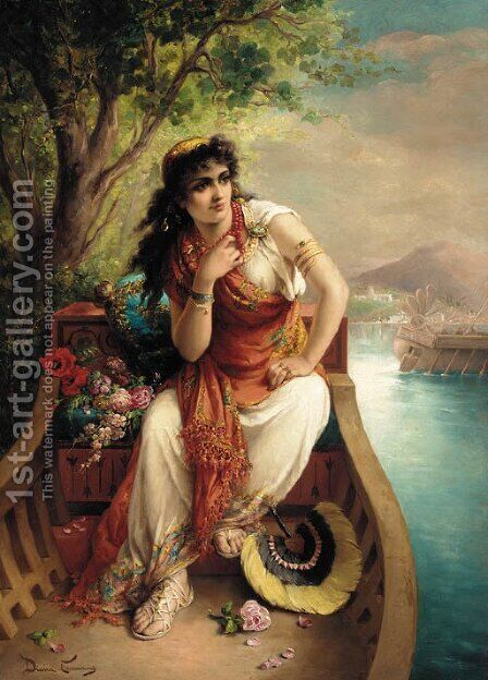 An egyptian princess by Diana Coomans - Reproduction Oil Painting