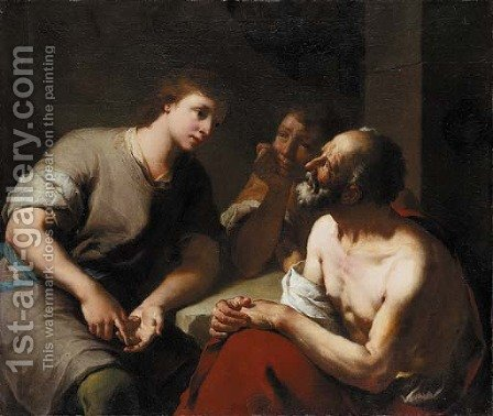 Joseph interpreting the dreams of Pharaoh's Butler and Baker by Domenico Maggiotto - Reproduction Oil Painting