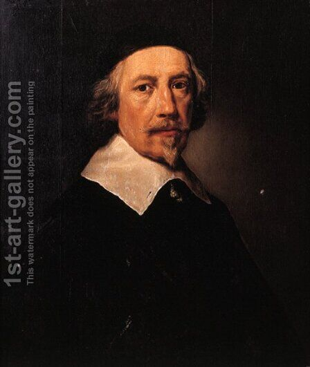 Portrait of a gentleman, possibly Hendrik van Soeteren (-1652) by Dutch School - Reproduction Oil Painting