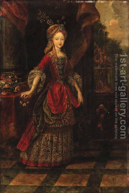 Portrait of a Lady by Dutch School - Reproduction Oil Painting