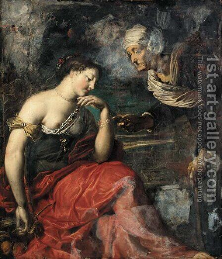 Vertumnus and Pomona by Dutch School - Reproduction Oil Painting
