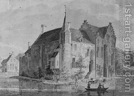 Rijsenburg Castle, near Utrecht by Dutch School - Reproduction Oil Painting