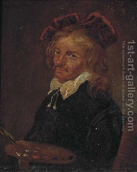 Self-portrait of an artist by Dutch School - Reproduction Oil Painting