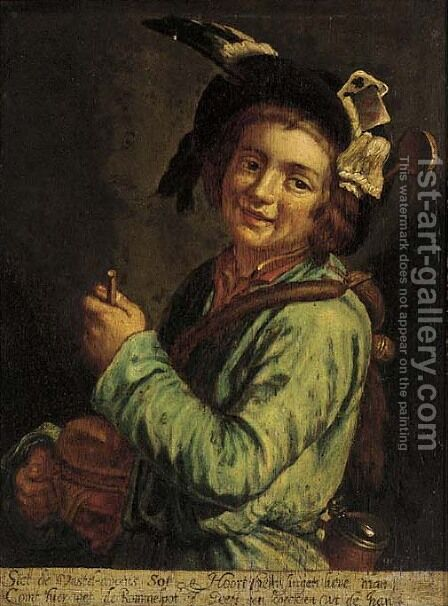 The little drummer boy by Dutch School - Reproduction Oil Painting