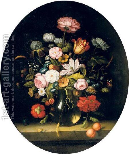 Flowers by Dutch School - Reproduction Oil Painting