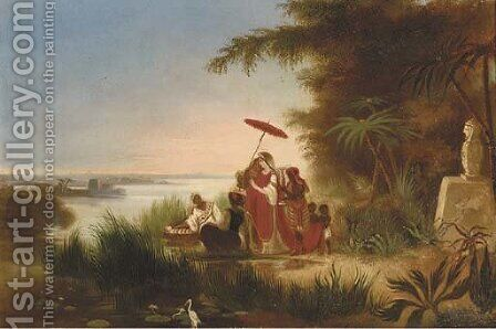 The finding of Moses by Dutch School - Reproduction Oil Painting