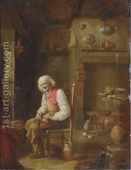 The shoe maker by Dutch School - Reproduction Oil Painting