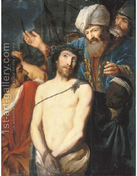 Christ Crowned with Thorns by Dutch School - Reproduction Oil Painting