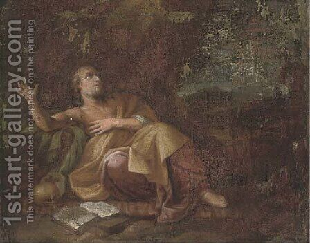 Saint Jerome in the wilderness by Dutch School - Reproduction Oil Painting