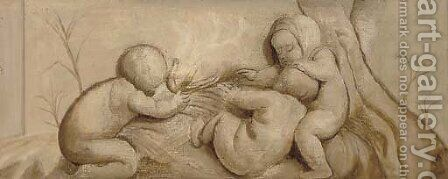 Putti by Dutch School - Reproduction Oil Painting