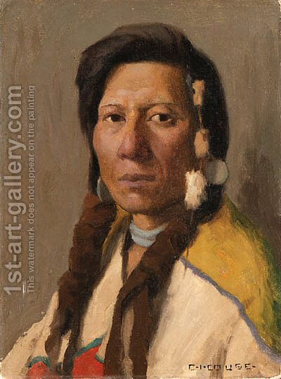 Klickitat Brave by Eanger Irving Couse - Reproduction Oil Painting