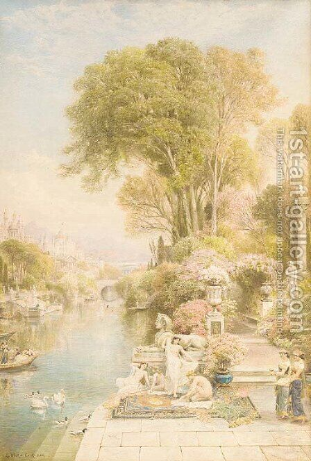 Enchanted realms by Ebenezer Wake Cook - Reproduction Oil Painting