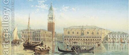 The Doge's Palace and the Campanile of St. Mark's from the Grand Canal, Venice by Ebenezer Wake Cook - Reproduction Oil Painting