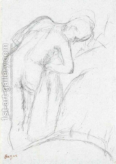 Apres le bain (Femme s'essuyant) by Edgar Degas - Reproduction Oil Painting