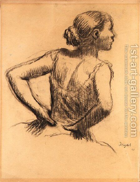 Buste de danseuse by Edgar Degas - Reproduction Oil Painting