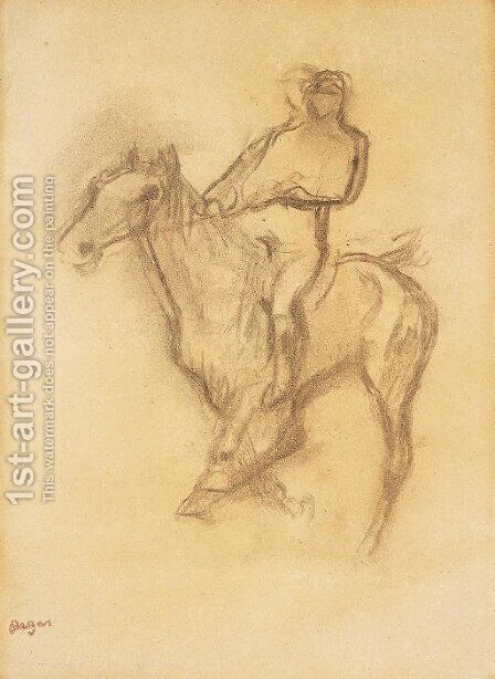 Cavalier by Edgar Degas - Reproduction Oil Painting
