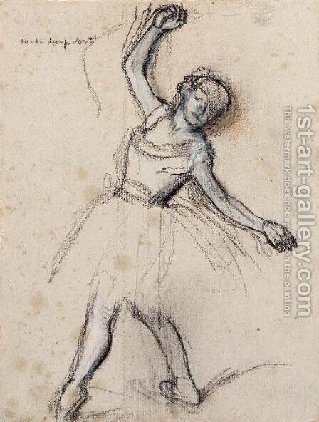 Danseuse en 'Quatrieme devant' by Edgar Degas - Reproduction Oil Painting