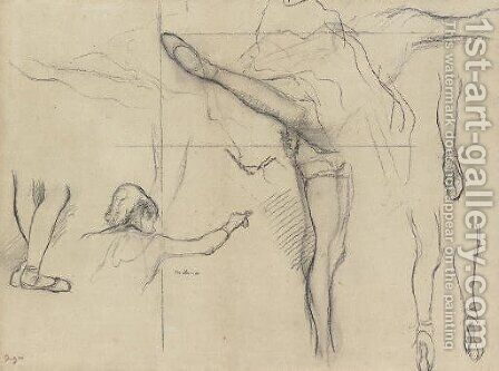 Danseuse--six croquis by Edgar Degas - Reproduction Oil Painting