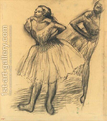 Deux danseuses debout by Edgar Degas - Reproduction Oil Painting