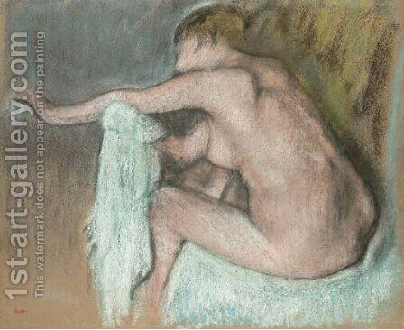 Femme s'essuyant le bras by Edgar Degas - Reproduction Oil Painting
