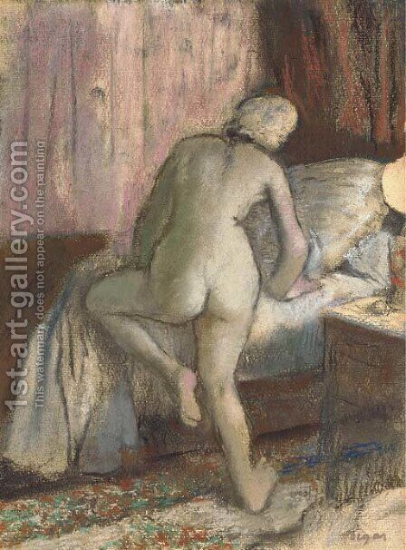Le coucher by Edgar Degas - Reproduction Oil Painting
