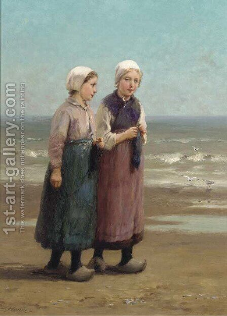 On the sands by Edith Hume - Reproduction Oil Painting