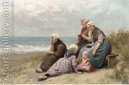 Waiting on the beach by Edith Hume - Reproduction Oil Painting