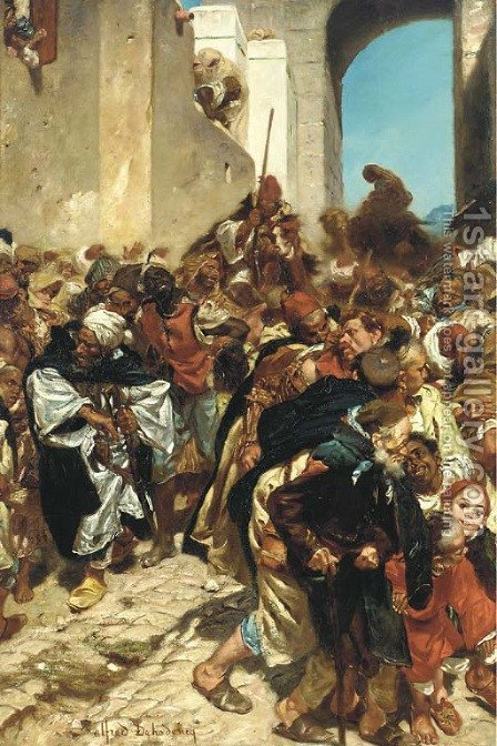 Les prisonniers Marocains by Alfred Dehodencq - Reproduction Oil Painting