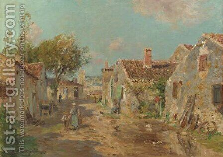 A Talmont (Vendee) by Edmond Marie Petitjean - Reproduction Oil Painting