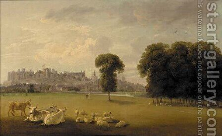 Windsor Castle from the Thames by Edmund Bristow - Reproduction Oil Painting