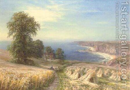 Near Sennen Cove, Cornwall by Edmund George Warren - Reproduction Oil Painting