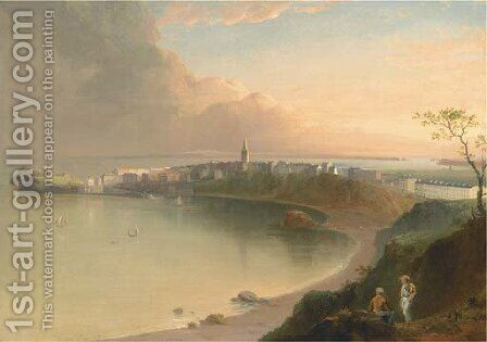 View of Tenby from the North-East by Edmund Gill - Reproduction Oil Painting