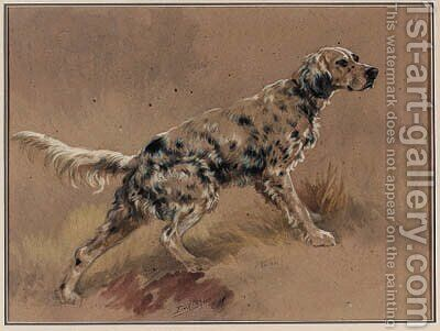 An English Setter in a Landscape 2 by Edmund Henry Osthaus - Reproduction Oil Painting