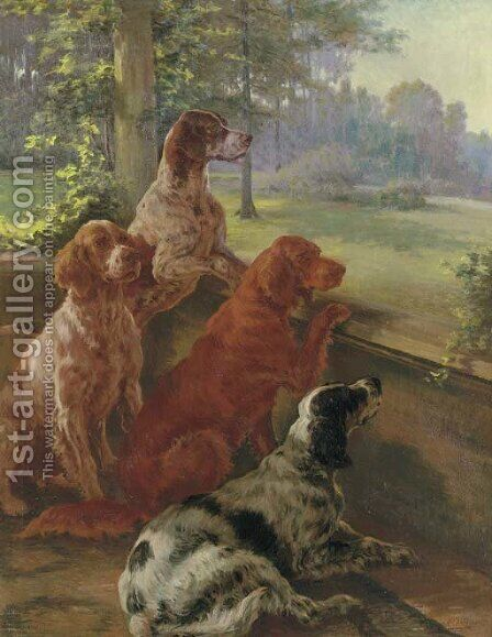 Waiting for Master by Edmund Henry Osthaus - Reproduction Oil Painting