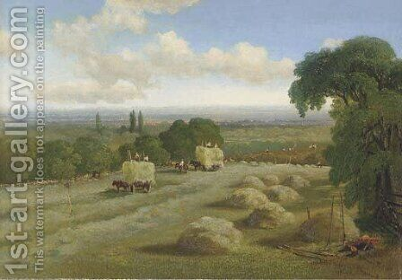 Harvest time, Hampstead by Edward H. Niemann - Reproduction Oil Painting
