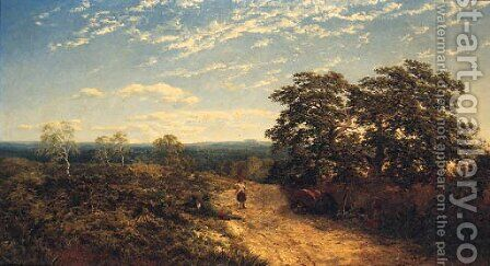 On Pauls Cray Common, Chislehurst, Kent by Edward H. Niemann - Reproduction Oil Painting