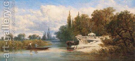 Pitt Pier, Quarry Wood, Marlow-on-Thames by Edward H. Niemann - Reproduction Oil Painting