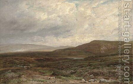 On the moors near Bolton, Yorkshire by Edmund Morison Wimperis - Reproduction Oil Painting